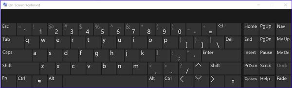English keyboard without umlauts.